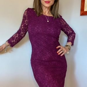 Diane von Furstenberg purple Zarita dress size 10